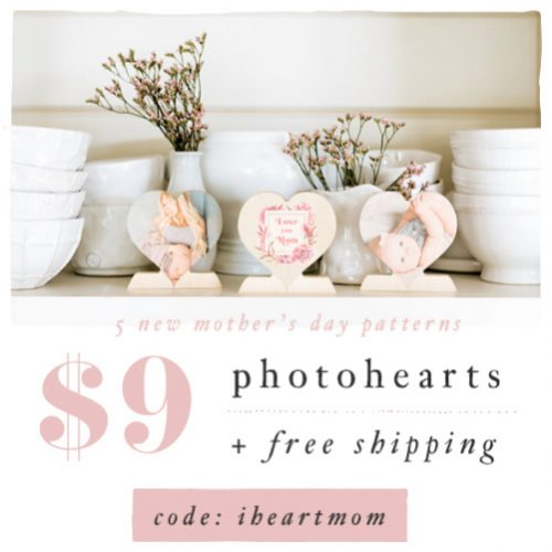 70% off Custom Wood Photo Hearts : Only $9 + Free S/H