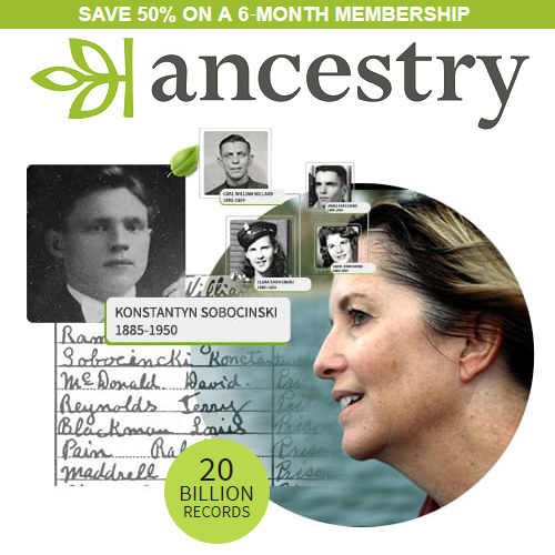 50% off Ancestry.com 6-Month Membership : Only $49