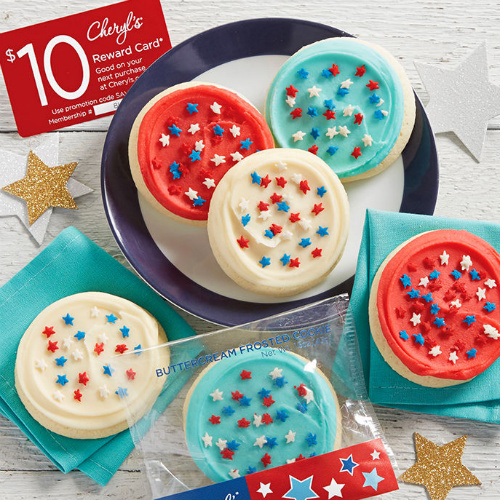 Red, White and Blue Cookie Sampler : Only $9.99 + Free S/H