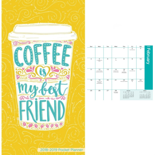 2018-2019 Coffee Lover Pocket Planner : Only $1.99 + $2 Flat S/H