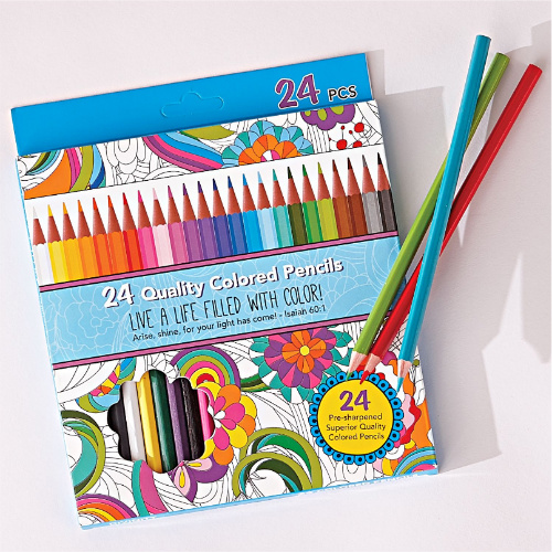 76% off 24-CT Colored Pencil Set : Only $2.38 + Free S/H