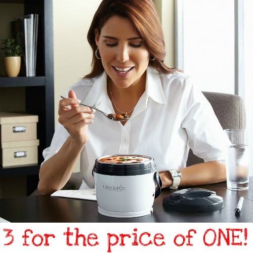 63% off Crock-Pot Lunch Warmers : 3 for $33 + Free S/H