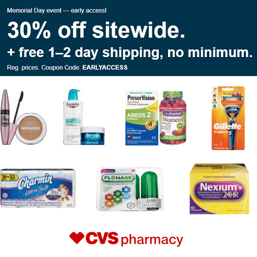 CVS Coupon : 30% off Regular Price Items + Free S/H on any order
