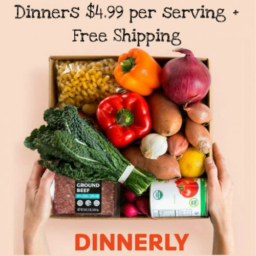 Dinnerly Meal Kits : Complete Dinners for $4.99 per serving + Free S/H