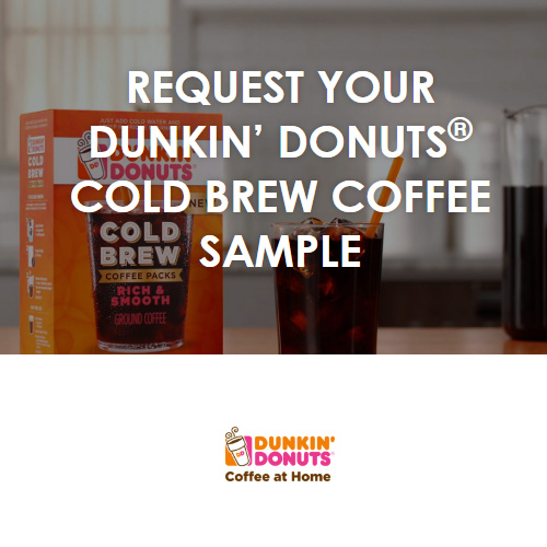 Dunkin' Donuts Cold Brew : Free Sample
