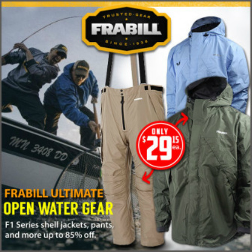 80% off Men's Frabill F1 Storm Jackets and Pants : $29.15 + Free S/H