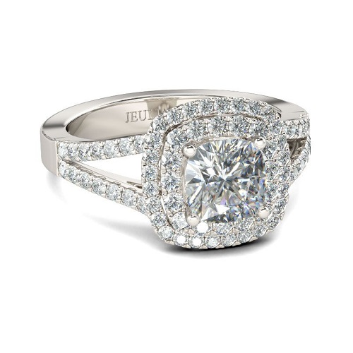 61% off Halo Split Sterling Silver Ring : Only $102 + Free S/H