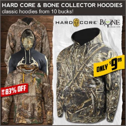 83% off Men's Hard Core Camo Hoodies : Only $9.99