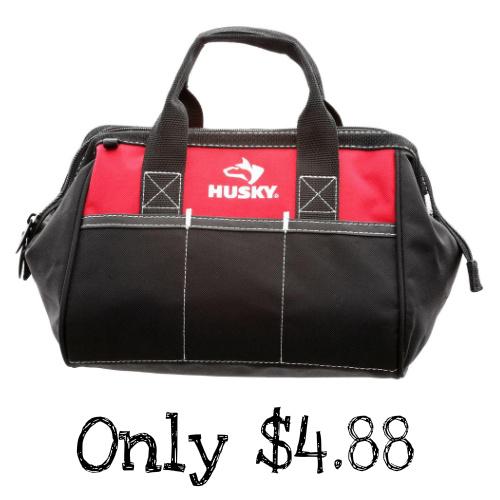 51% off Husky 12″ Tool Bag : Only $4.88
