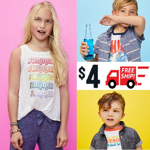 Kids' Summer Clothes and Flip Flops : Only $4 + Free S/H
