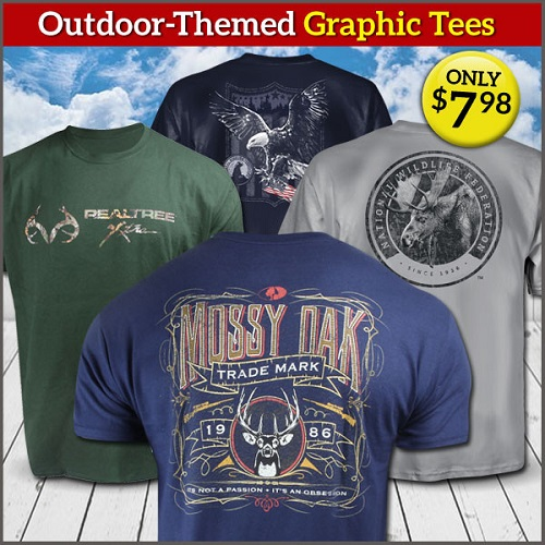 60% off Men's Outdoor Themed Graphic Tees : Only $7.98 + Free S/H