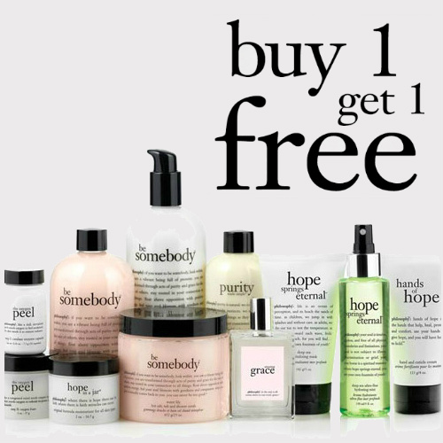 philosophy : Buy 1, Get 1 Free Coupon