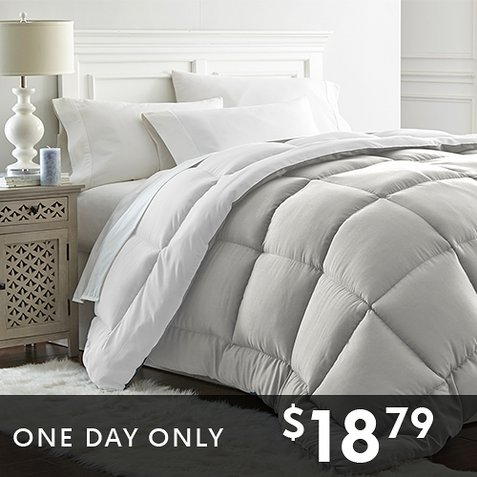 Reversible Down Alternative Comforters : Only $18.79 any size