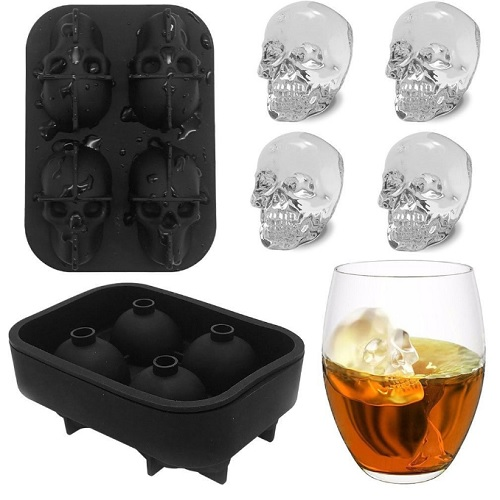 3-D Skull Silicone Ice Cube Tray : Only $4.90 + Free S/H