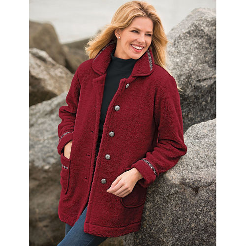 76% off Women's Sherpa Jacket : Only $11.98 + Free S/H