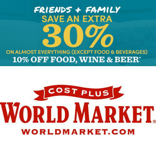 Cost Plus World Market Coupon : Extra 30% off Almost Everything