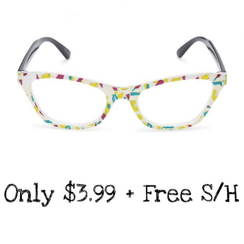 78% off Cat Eye Reading Glasses : Only $3.99 + Free S/H