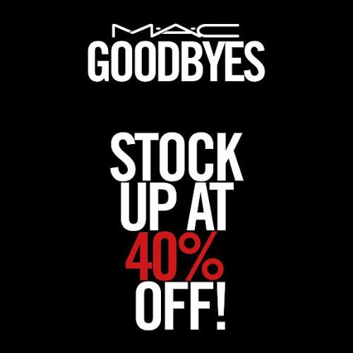 MAC Cosmetics : 40% off + Free S/H