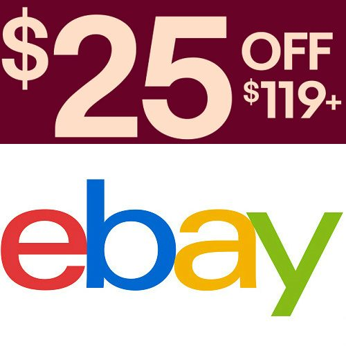 Ebay Coupon : $25 off $119 or more