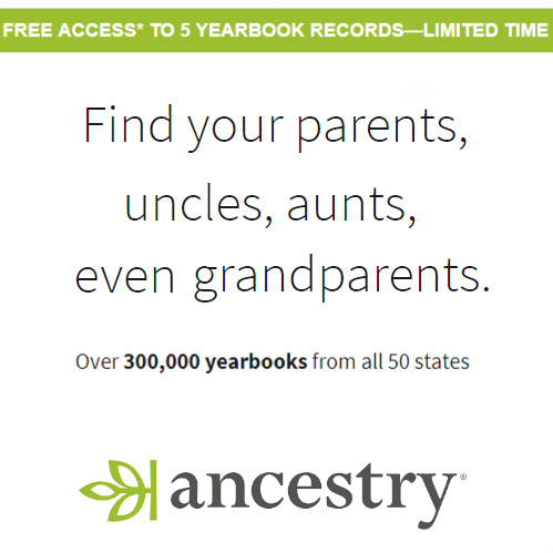Ancestry.com : Free Yearbook Access