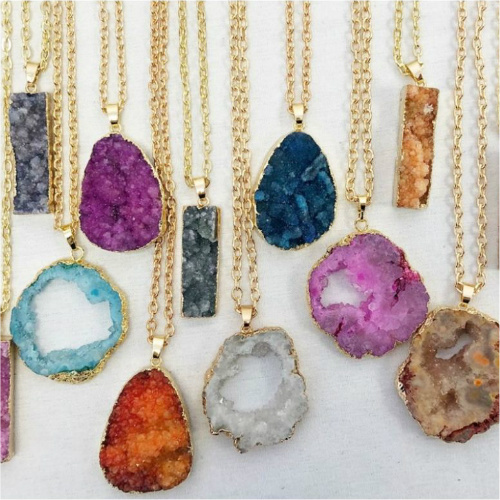 72% off Geode Necklaces : Only $10.79 + Free S/H