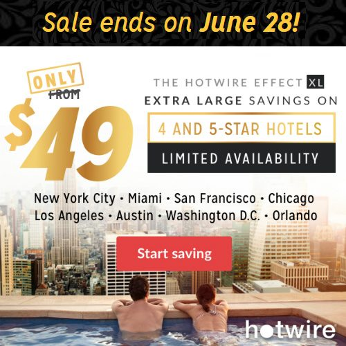 Up to 74% off 4 & 5 Star Hotels : Only $49 per Night