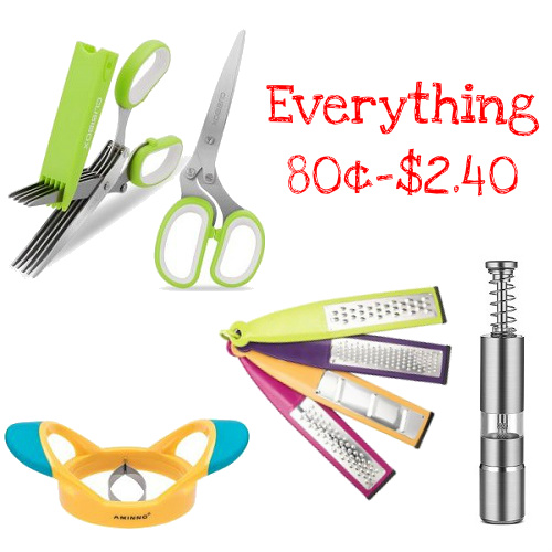 Up to 87% off Kitchen Gadget Sale : All items 80¢-$2.40