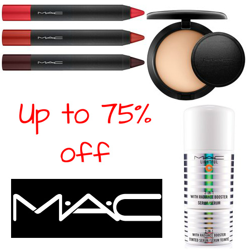 Up to 75% off MAC Cosmetics : Prices start at just $6