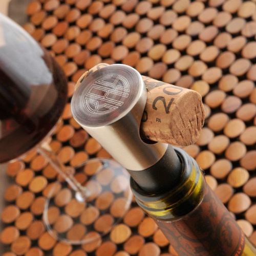 38% off Monogrammed Wine Stopper : Only $12.99 + Free S/H