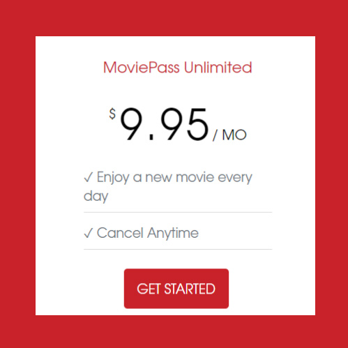 MoviePass Unlimited Movie Theater Tickets : Only $9.95/Month