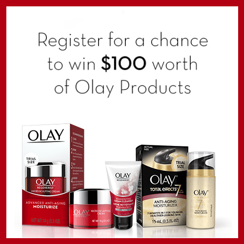 Olay Sweepstakes : Enter to Win $100 Worth of Products