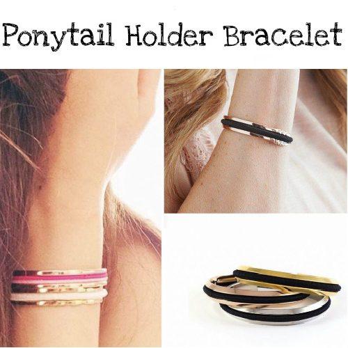 85% off Set of 2 Hair Tie Holder Bracelets : Only $4.49