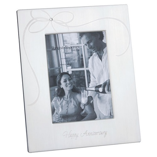 "80% off Reed & Barton Silverplate ""Happy Anniversary"" Frame : Only $9.98 + Free S/H"
