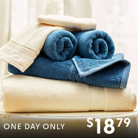 Up to 84% off 6-PC Bath Towel Sets : Only $18.79