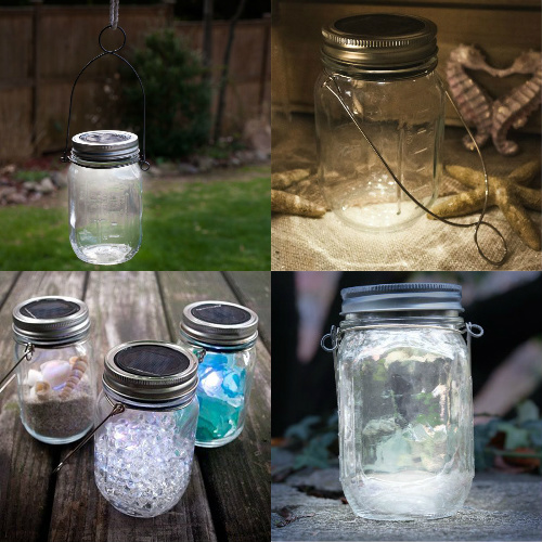 70% off 2-PK of Solar LED Mason Jars : Only $15.29 + Free S/H
