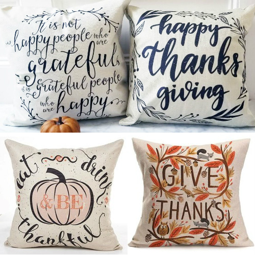 79% off Thanksgiving Pillow Covers : Only $6.29