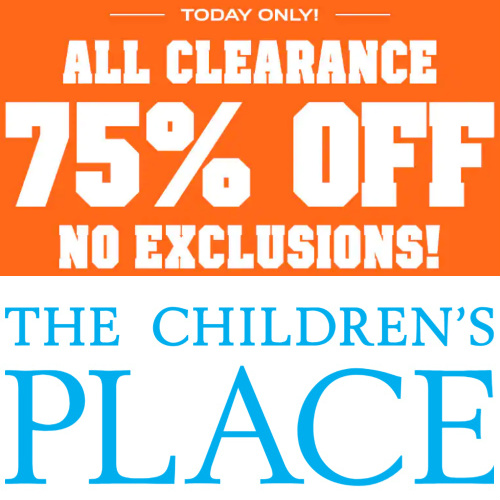 The Children's Place : 75% off All Clearance + Free S/H