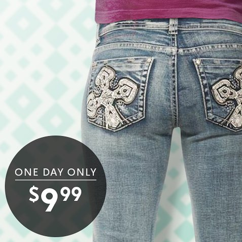 Up to 90% off Women's Jeans : All Styles Only $9.99
