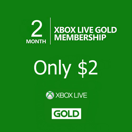 90% off 2-Month Xbox Live Gold Membership : Only $2
