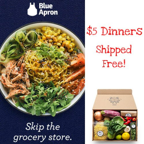 Try Blue Apron : Get 6 Dinners for $5 each + Free S/H