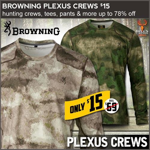 78% off Men's Browning Plexus Long-Sleeve Crew : Only $15