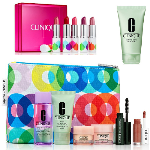 71% off Clinique Gift Set, Lipstick Kit and Face Wash : Only $30 + Free S/H