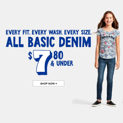 60% off Kids' Jeans : Only $7.80 or less + Free S/H