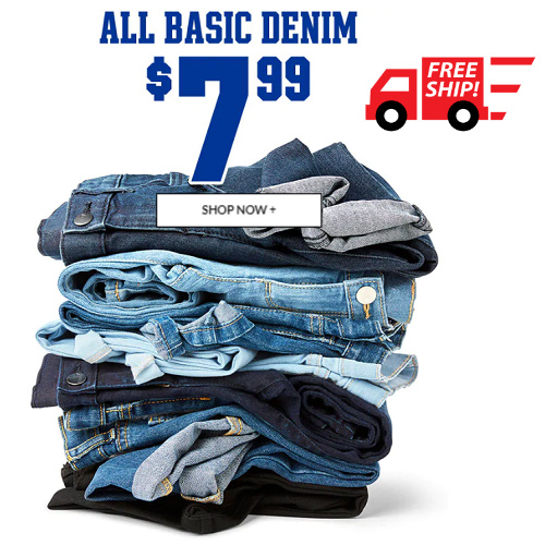 Up to 59% off Kids' Jeans : Only $7.99 + Free S/H