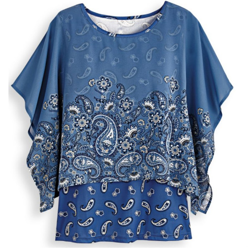 70% off Women's Kimono Overlay Top : Only $8.97 + Free S/H