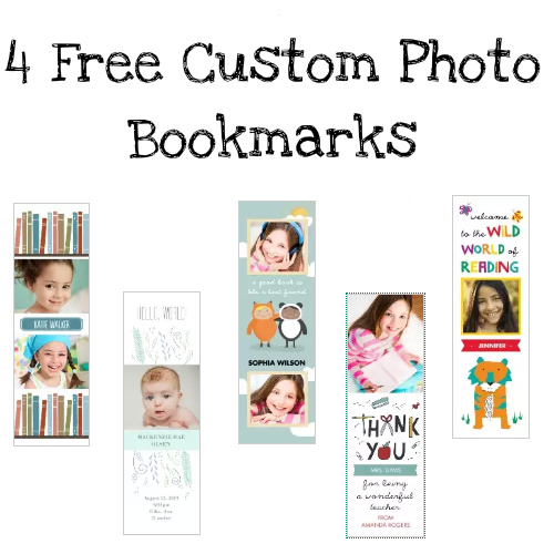 Set of 4 Custom Photo Bookmarks : 100% Free