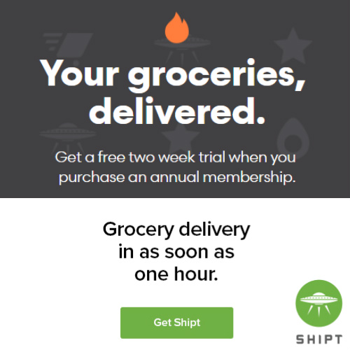Shipt Grocery Delivery : Free 2-Week Trial