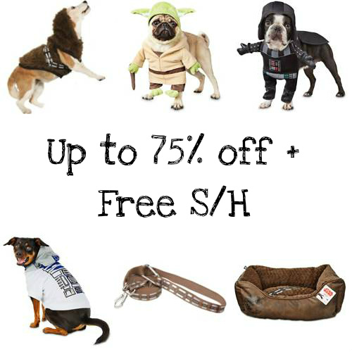 Star Wars Pet Beds, Toys and Costumes for Dogs : 75% off Everything + Extra 10% off