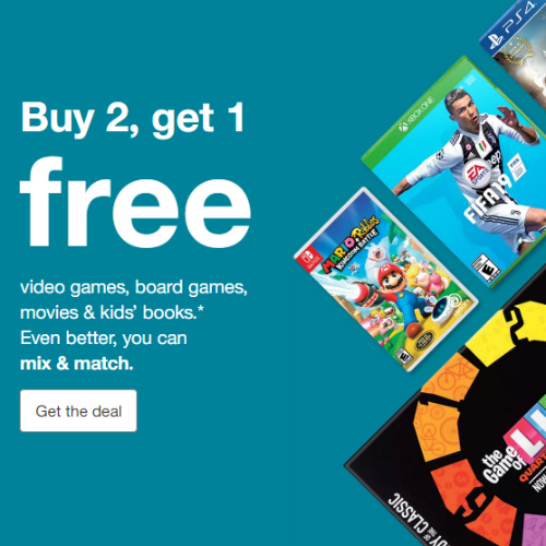 Target : Buy 2, Get 1 Free on Board Games, Video Games and more