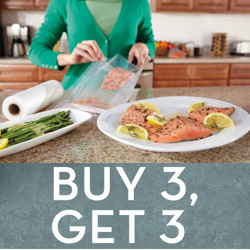 FoodSaver Bags, Rolls & Containers : Buy 3, Get 1 Free + Free S/H